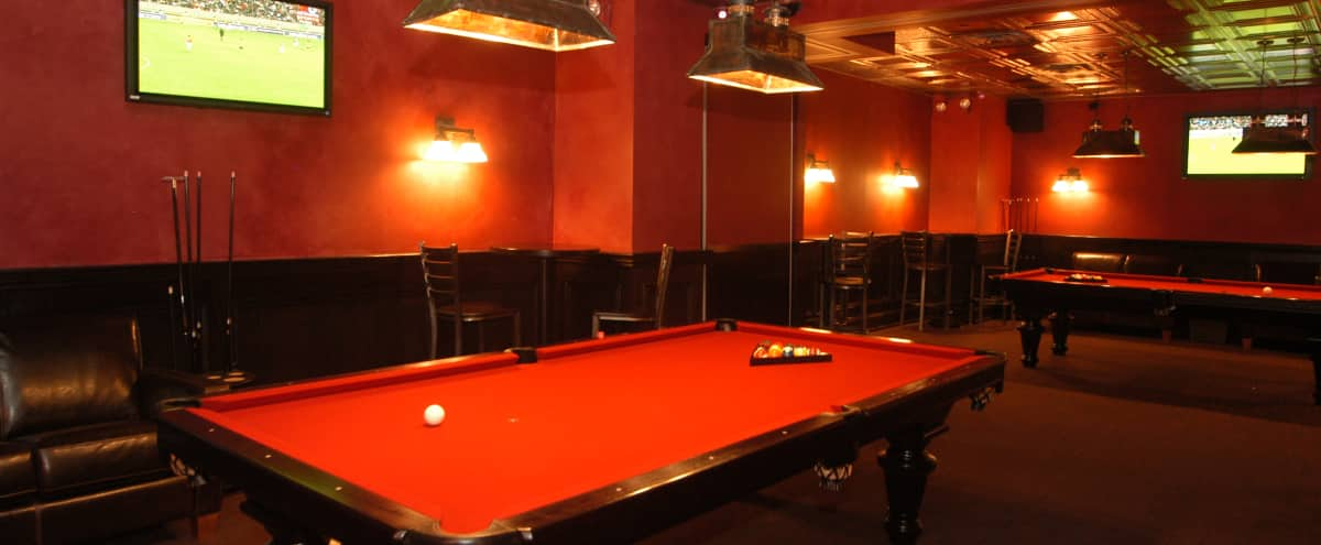 Private Pool Table Rooms in Midtown in NEW YORK Hero Image in Midtown, NEW YORK, NY