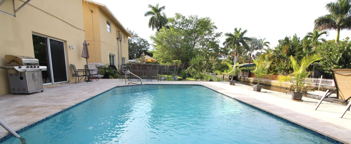 ⭐️Waterfront pool home near beach, cruise, airport in Fort Lauderdale Hero Image in Tarpon River, Fort Lauderdale, FL
