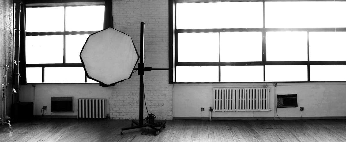 Daylight Photo & Film Studio, With a Brick Wall and Equipment in Brooklyn Hero Image in East Williamsburg, Brooklyn, NY