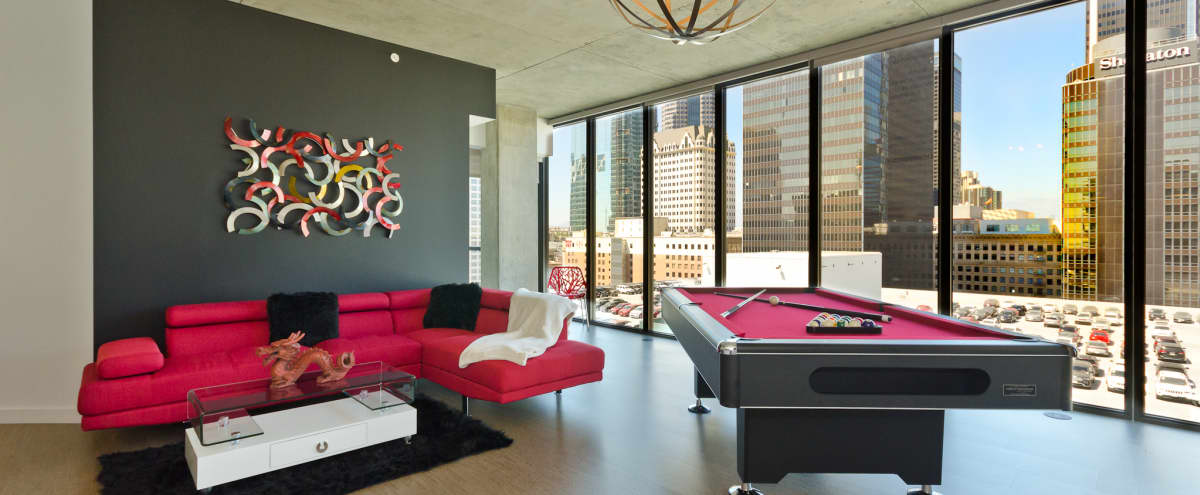 Trendy Urban DTLA VIP Penthouse with Pool Table in Los Angeles Hero Image in South Park, Los Angeles, CA