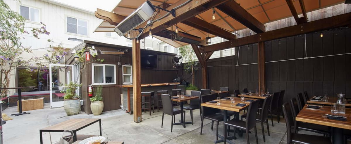 Unique Marina Wine bar with full kitchen and stunning patio in San Francisco Hero Image in Marina District, San Francisco, CA