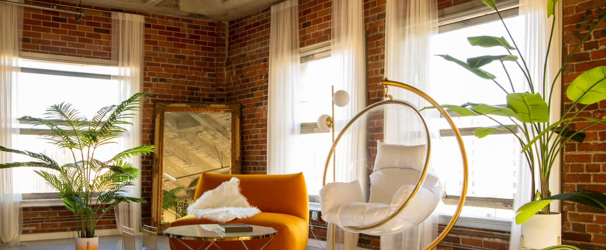 *Sunflower Studio* / Corner Loft Filled With Golden Light and Glamour in Los Angeles Hero Image in Central LA, Los Angeles, CA