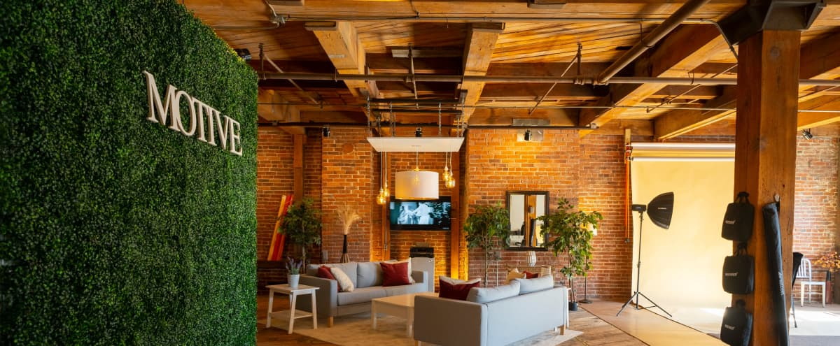 Exposed Brick & Wood Professional Media Production Space in Kansas City Hero Image in West Bottoms, Kansas City, MO