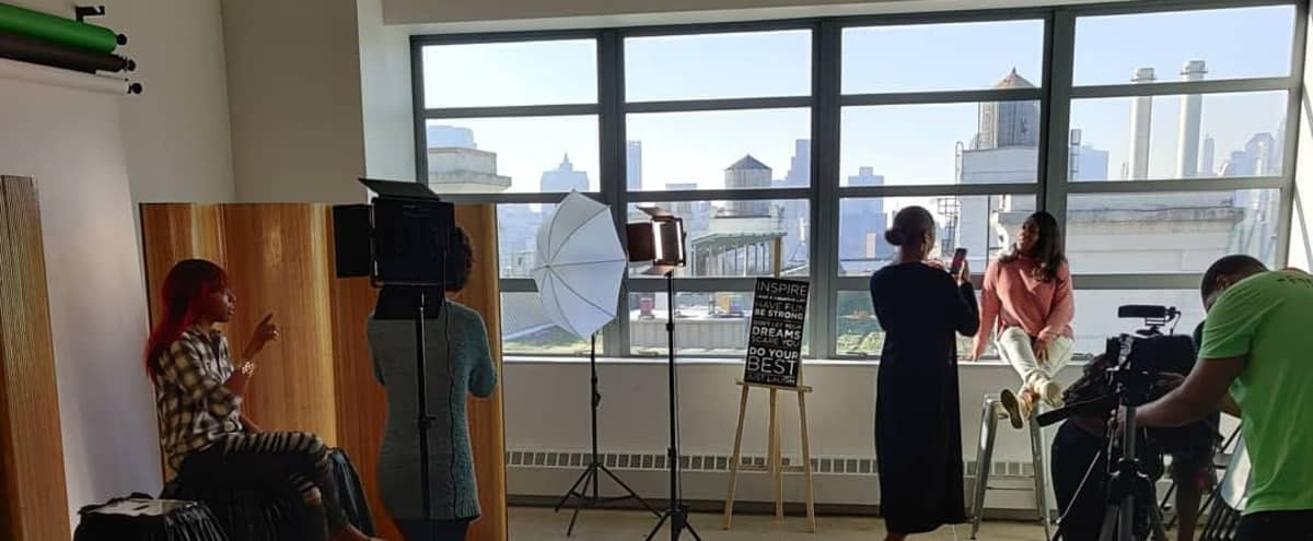Brooklyn Navy Yard Photography and Podcast Studio with Skyline View and Natural Light in Brooklyn Hero Image in Brooklyn Navy Yard, Brooklyn, NY