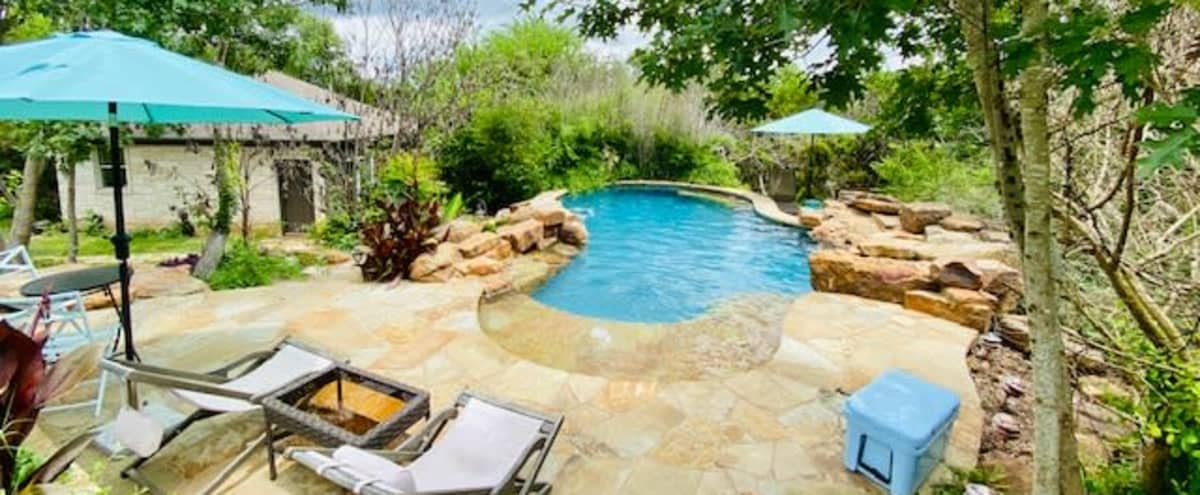 Private Hill Country Pool & Charming Pool House Casita in Austin Hero Image in undefined, Austin, TX