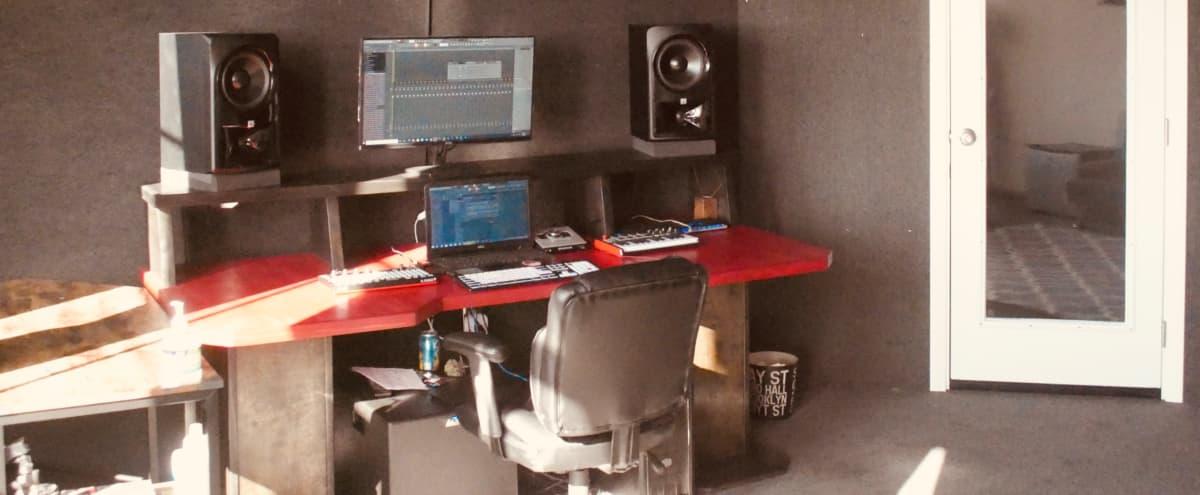 Downtown loft recording studio with skyline view dtla in Los Angeles Hero Image in Central LA, Los Angeles, CA
