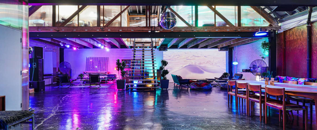 Large Spacious Downtown Warehouse Loft with Speakeasy Chic in Los Angeles Hero Image in Downtown Los Angeles, Los Angeles, CA