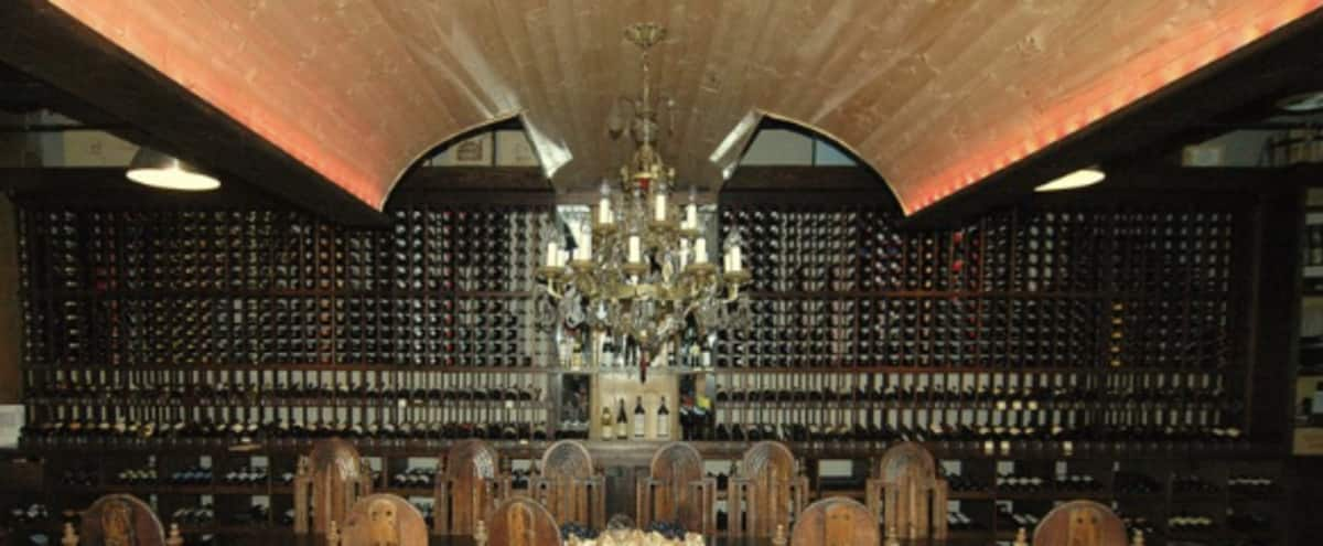 Downtown Industrial Event Wine Cellar With Courtyard Fountain And