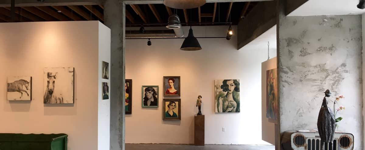Spacious Industrial, vintage mid town gallery and studio with great natural lighting. in Los Angeles Hero Image in Beverly Grove, Los Angeles, CA