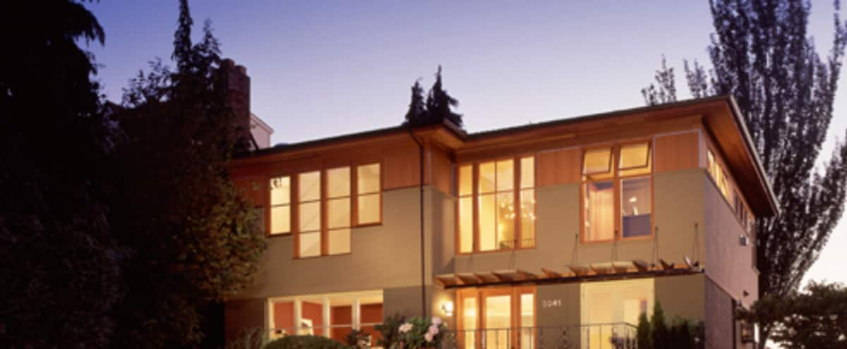 Sunset Magazine featured NW contemporary view home on the top of Queen Anne Hill in SEATTLE Hero Image in Queen Anne, SEATTLE, WA