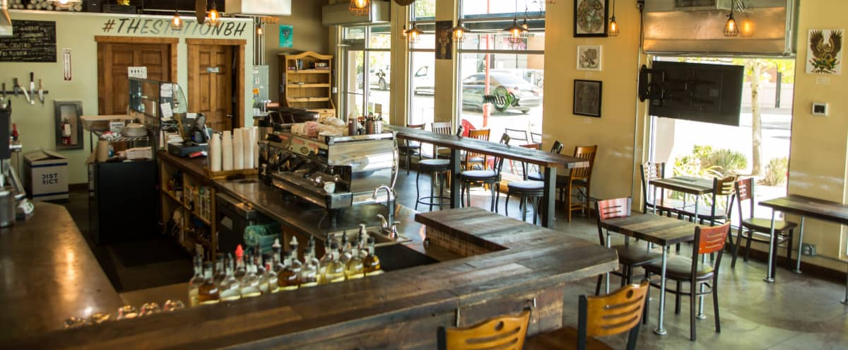 After Hours Meeting Space in Urban Coffee Shop and Wine Bar in Seattle Hero Image in North Beacon Hill, Seattle, WA