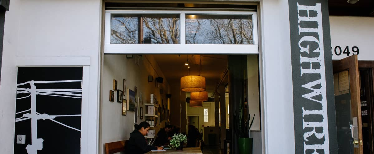 Comfortable Cafe & Patio With Full Barista Service in Berkeley Hero Image in Poets Corner, Berkeley, CA