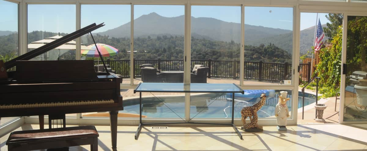 Resort Like Setting Home with Stunning Views in San Rafael Hero Image in undefined, San Rafael, CA