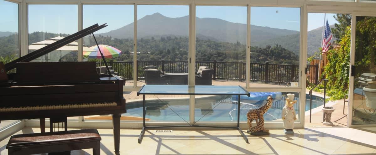 Resort Like Setting Home with Stunning Views in San Rafael Hero Image in undefined, San Rafael, CA