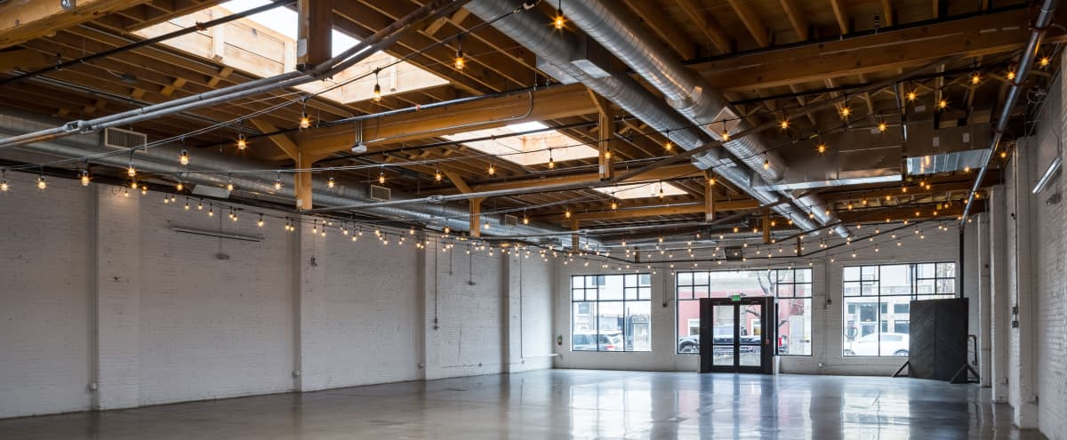 Urban Modern Event Space with Skylights in Denver Hero Image in Lincoln Park, Denver, CO