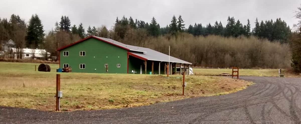 Small Town Private Countryside Pole Barn on 32 Acres in Winlock Hero Image in undefined, Winlock, WA
