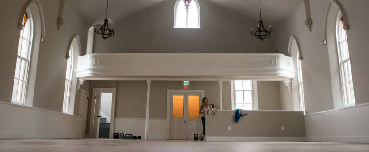 Spacious, light-filled studio located inside of renovated church in Baltimore Hero Image in Downtown, Baltimore, MD