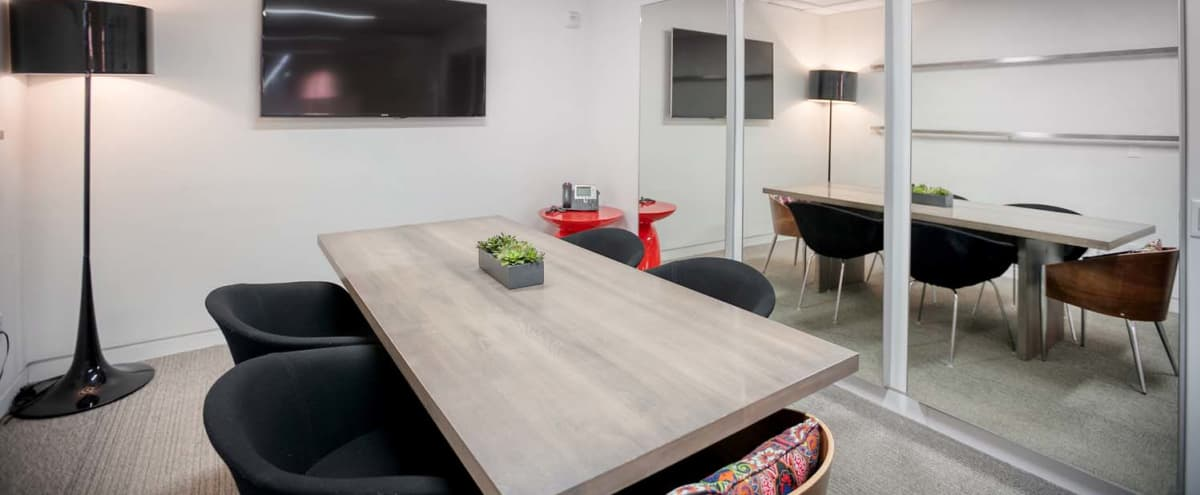 Modern & Sophisticated Meeting Room in Midtown West NYC - Seats up to 8 in New York Hero Image in Midtown, New York, NY