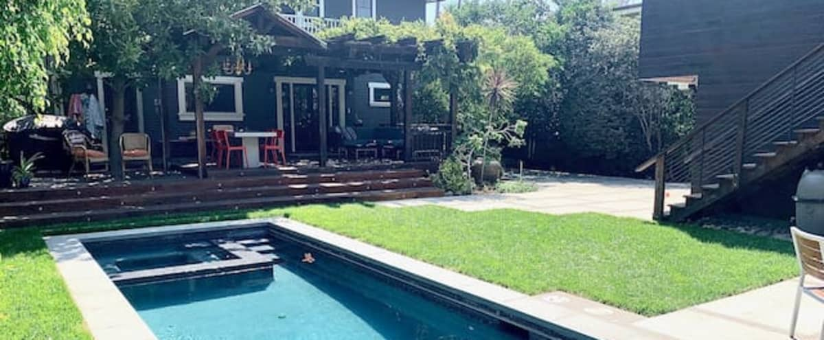 Traditional Craftsman, Pool, Detached Modern Studio in Los Angeles Hero Image in Hollywood, Los Angeles, CA