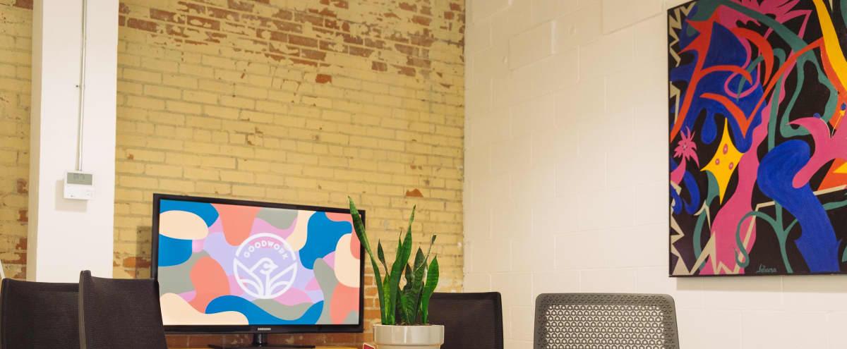 5 Person Meeting Room in Industrial Coworking Space in Dallas Hero Image in South Dallas, Dallas, TX
