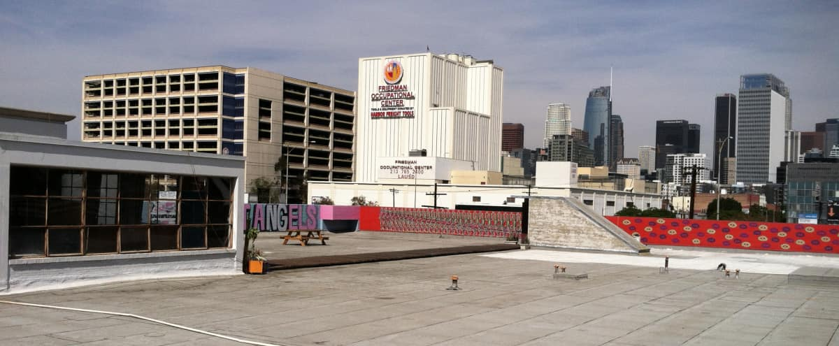 Large Private Rooftop with Office and Boardwalk in Los Angeles Hero Image in Downtown, Los Angeles, CA