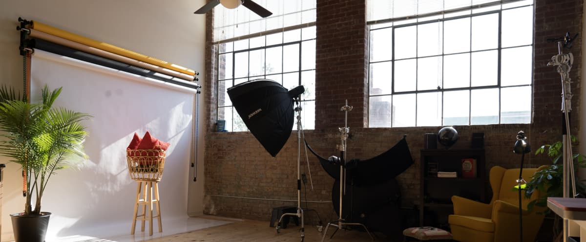 Industrial Exposed Brick Studio Loft with Beautiful Natural Light in atlanta Hero Image in Oakland, atlanta, GA