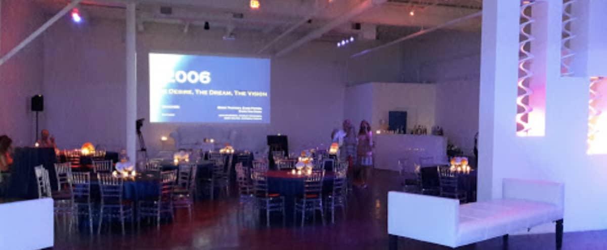 Unique & Open All White Conference & Seminar Space in The Design District in Dallas Hero Image in Design District, Dallas, TX