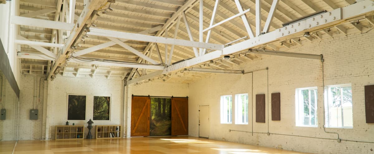 Warehouse Dance Studio with Brick Walls, Wood Floors and Front Stage in Los Angeles Hero Image in Park Mesa Heights, Los Angeles, CA