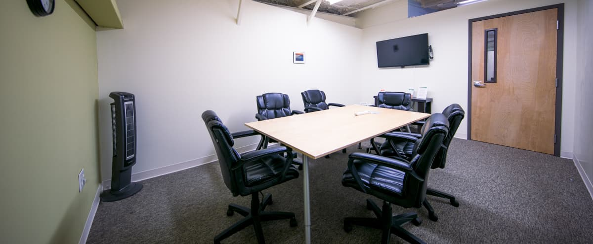 Versatile Small Conference Room in Downtown Decatur in Decatur Hero Image in Great Lakes, Decatur, GA