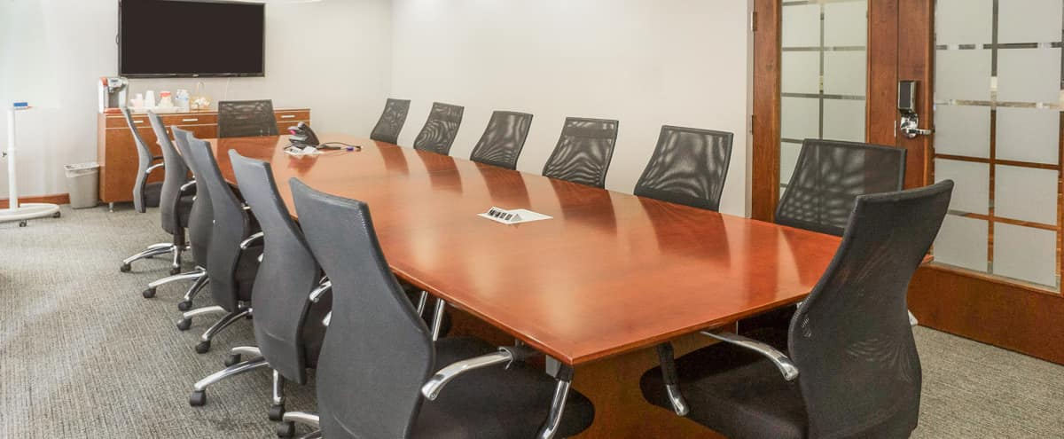 Peachtree 16 Person Downtown Board Room For Intewrviews,  Vlogs & Small Corporate Productions in Atlanta Hero Image in Downtown, Atlanta, GA