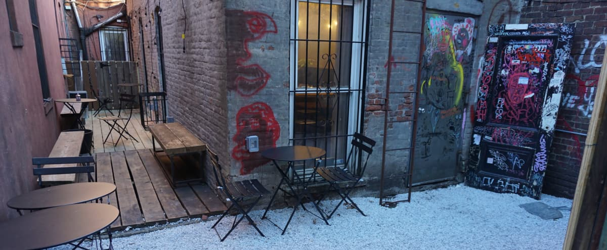 Incredible Crown Heights Cafe with seating and backyard in Brooklyn Hero Image in Crown Heights, Brooklyn, NY
