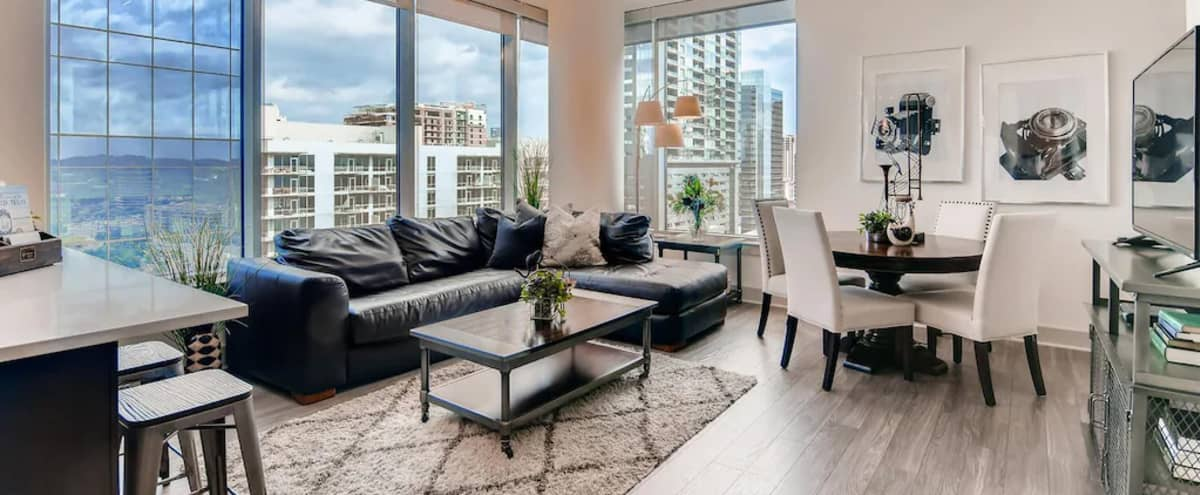 Trendy Downtown Apartment With Breathtaking City & River Views in Austin Hero Image in Rainey Street Historic District, Austin, TX