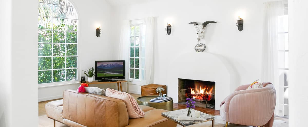 Spanish modern house with danish chilled set in West Hollywood in Los Angeles Hero Image in Central LA, Los Angeles, CA