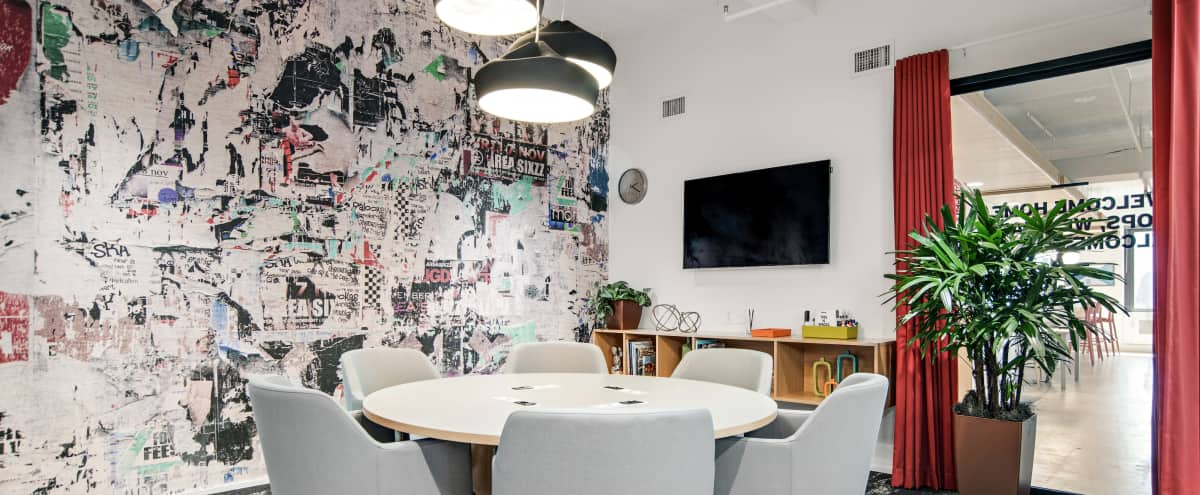 Creative conference room with A/V and whiteboard in New York Hero Image in Midtown, New York, NY
