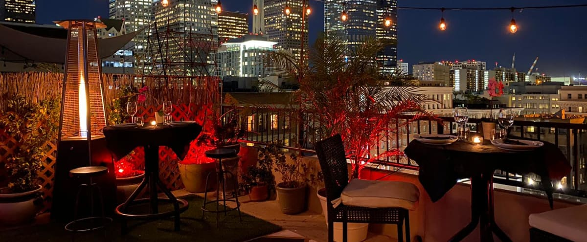 Nostalgic Downtown LA Penthouse Speak Easy w/Patio and Skyline View in Los Angeles Hero Image in Central LA, Los Angeles, CA