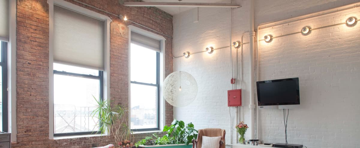 Authentic Bright Industrial Bowery Loft in New York Hero Image in Bowery, New York, NY