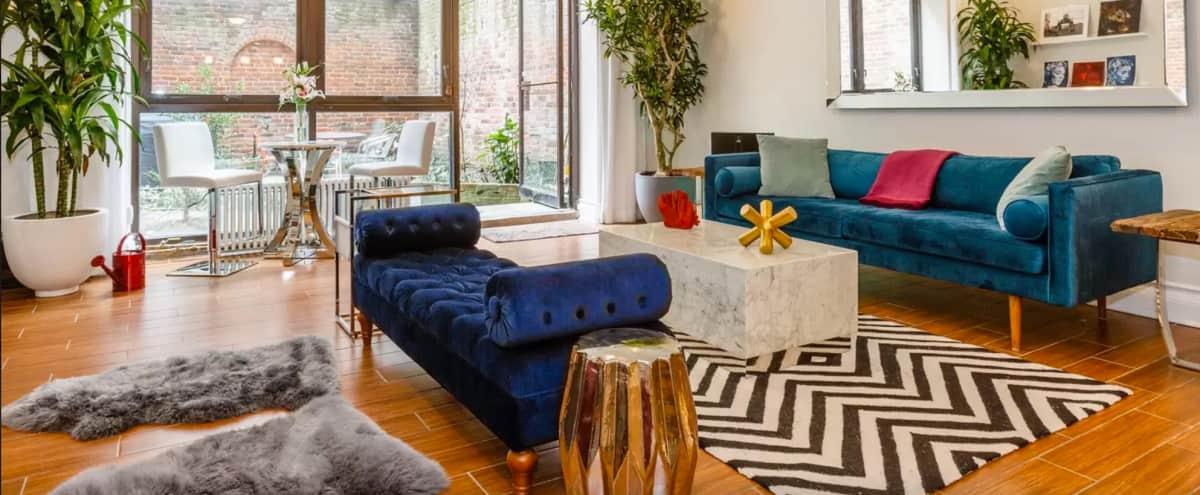 Mid-Century Modern, Luxury-Chic Duplex with Garden in New York Hero Image in Lower Manhattan, New York, NY