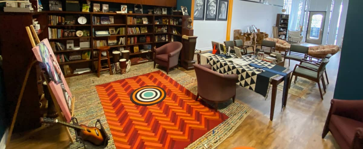 Urban Loft Studio Space with Pan-African Decor in Houston Hero Image in Briarforest, Houston, TX