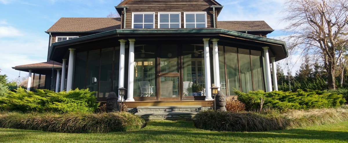 Grand Waterfront Home in Lawrence Hero Image in undefined, Lawrence, NY