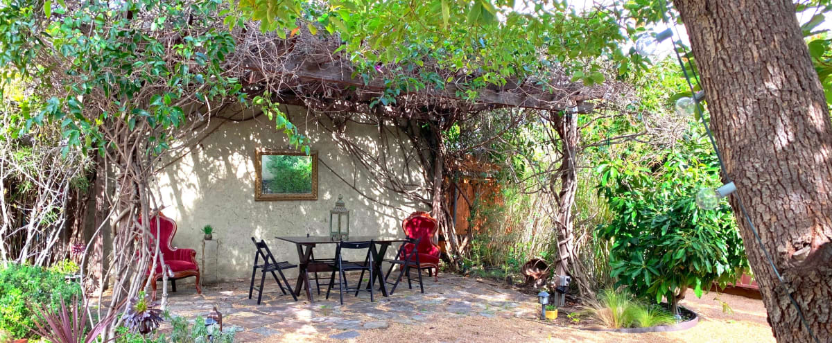 Vintage 1928 Spanish Home And Garden With Vine D Pergola In Los Angeles Hero Image
