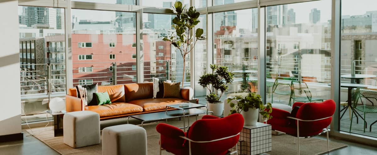 Cozy Sunlit Lounge with Outdoor Space in South Lake Union in Seattle Hero Image in South Lake Union, Seattle, WA