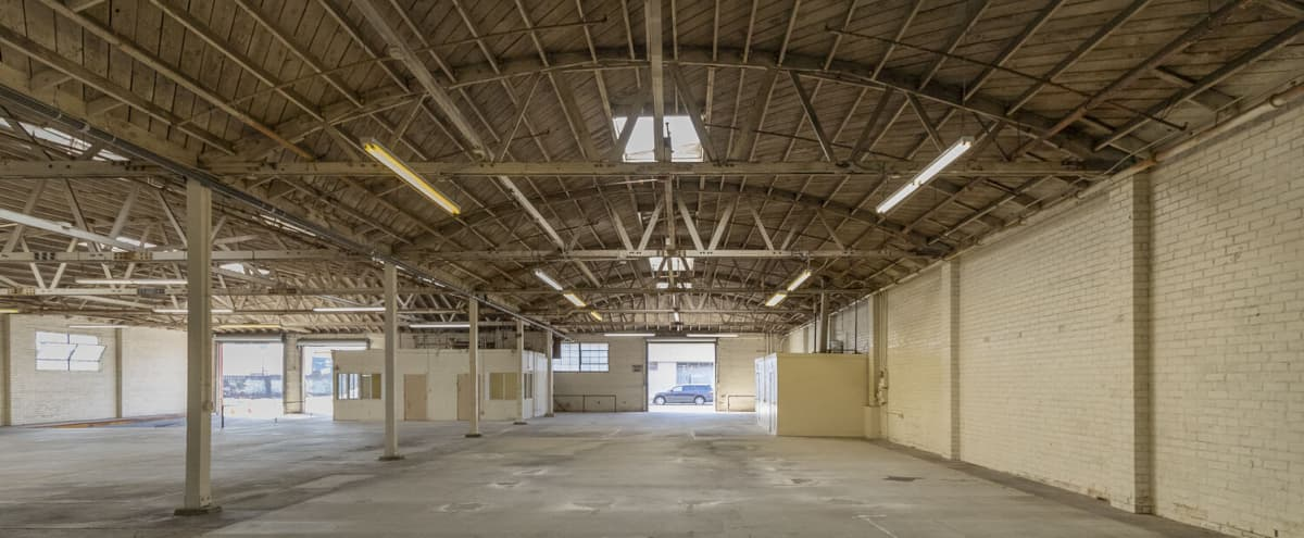 Urban Warehouse Space with Bow Truss Ceiling 12,000 SF in LOS ANGELES Hero Image in Central LA, LOS ANGELES, CA