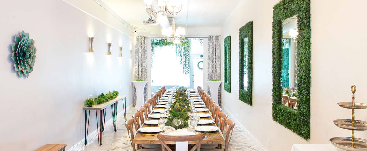 Chic Elegant Parisian-Style Venue Intimate Private Dining Room with Luxe Garden Vibes for Showers, Parties, Dinners, Lifestyle Photo Shoots & More! in Burbank Hero Image in undefined, Burbank, CA