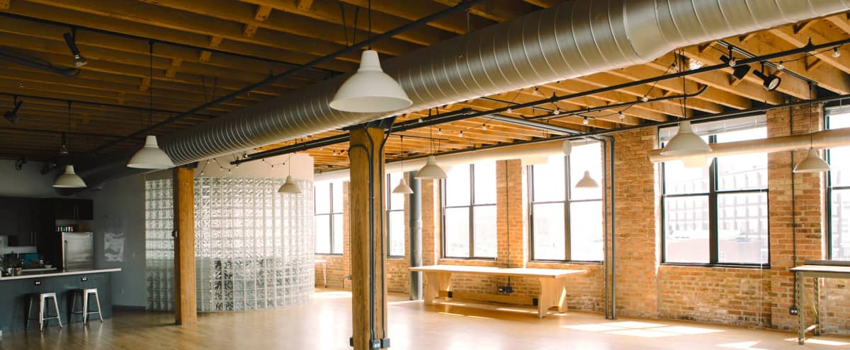 Versatile Loft Space with Skyline View in Chicago Hero Image in River West, Chicago, IL