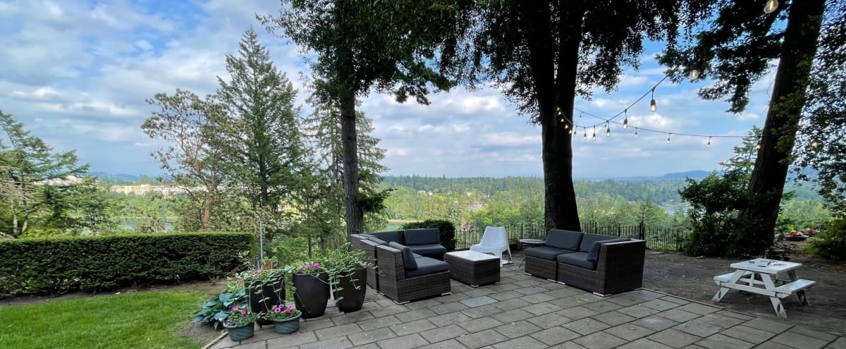 Suburban Outdoors with Mt Hood and river views in Portland Hero Image in Birdshill, Portland, OR