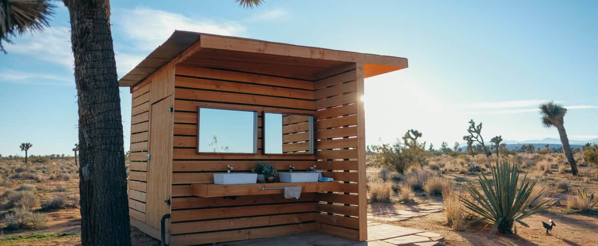 Yurt on 40 Acres of Joshua Tree-Filled High Desert Land in Yucca Valley Hero Image in undefined, Yucca Valley, CA