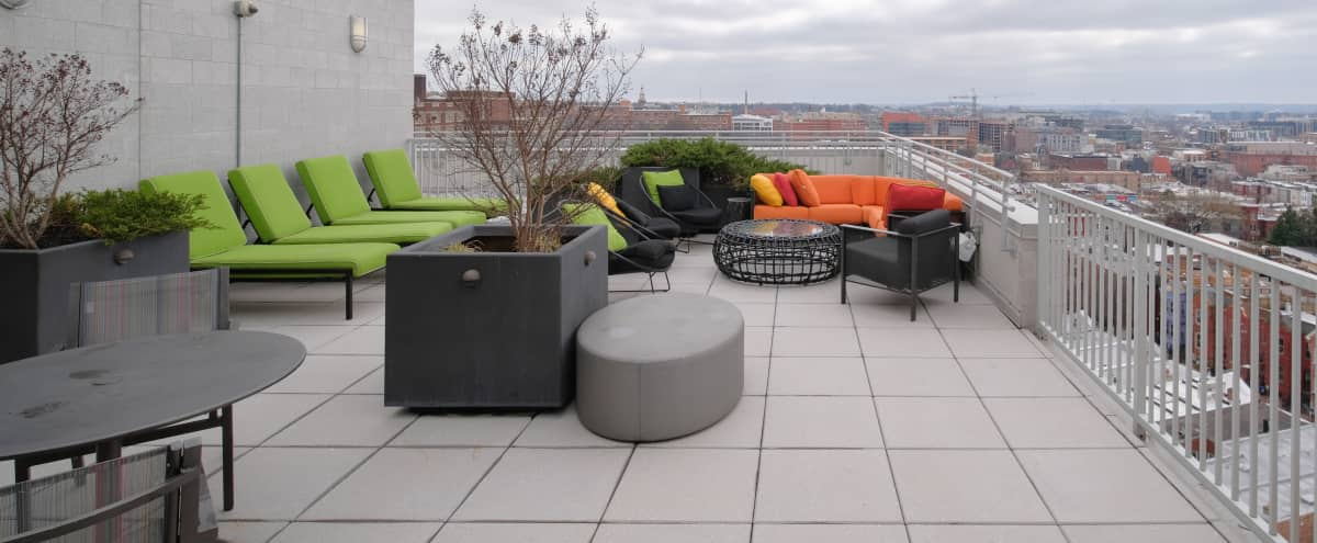 Intimate Roof Top Deck with stunning views of Washington Monument & Downtown DC in Washington Hero Image in Cardozo Shaw, Washington, DC