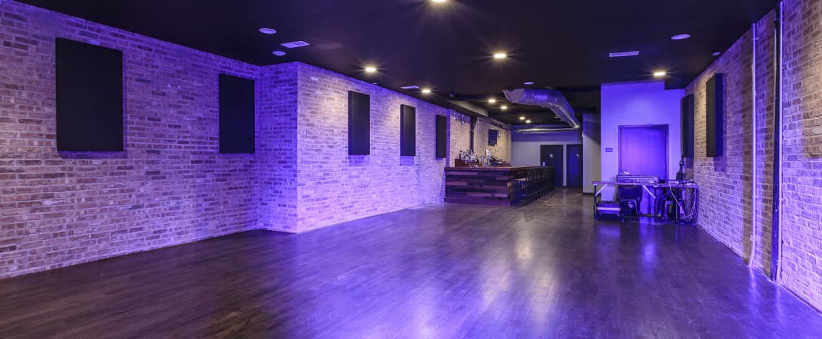 Live Events Venue with Stage, Sound, Lights, and Full Bar in Chicago Hero Image in Wicker Park, Chicago, IL