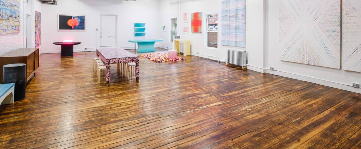 Classic Art Gallery Loft in Heart of Chelsea: over 2000 sq ft with large outdoor space and full kitchen in New York Hero Image in Midtown, New York, NY
