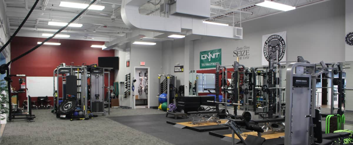 Gym in Northwest Suburbs with modern equipment in Arlington Heights Hero Image in undefined, Arlington Heights, IL